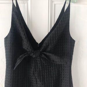 BCBGeneration Dresses - BCBGeneration black maxi dress w/ front bow size 6
